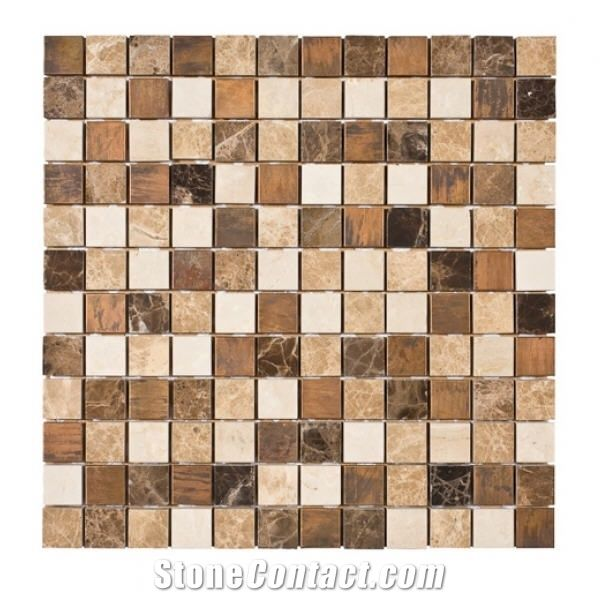 vintage copper glass mosaic with