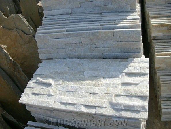 White Quartz Ledgestone White Quartzite Cultured Stone