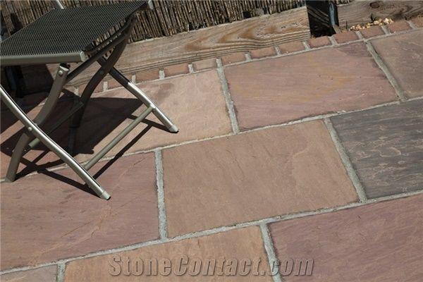 autumn brown sandstone patio floor