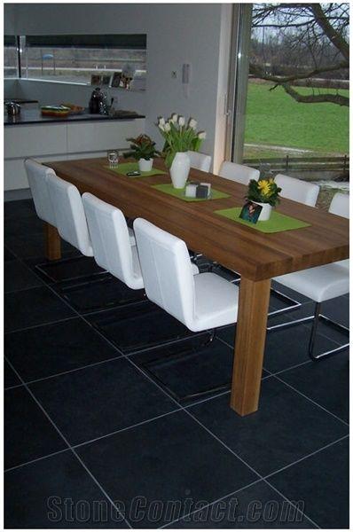 mustang slate floor tiles brazil black