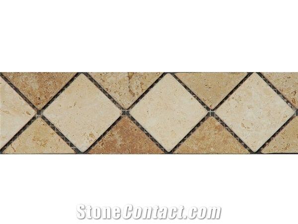 myra limestone noce travertine mosaic