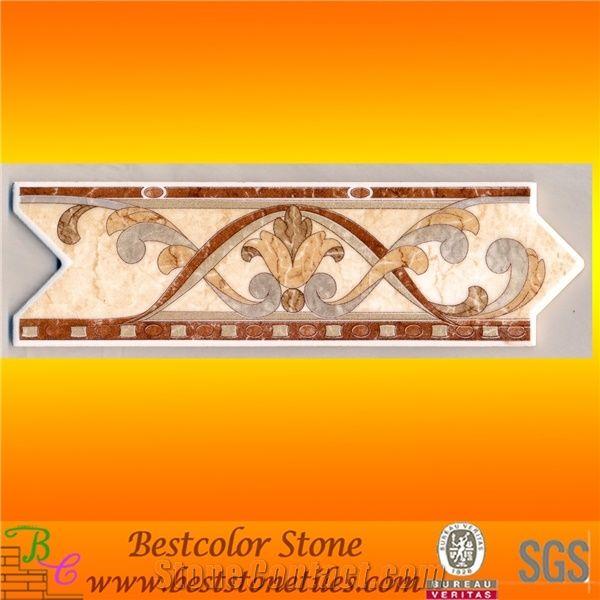 interlock arrow sharped listello tile