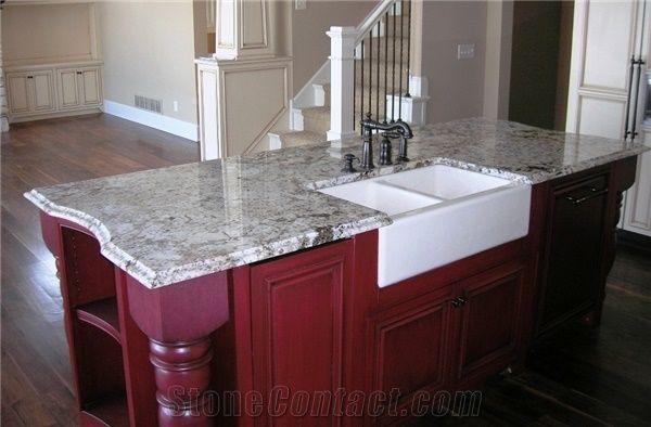 Delicatus Granite Island Top with Farm Sink, Delicatus ... on Farmhouse Granite Countertops  id=30709