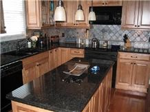 Black Pearl Granite Kitchen Countertops, India Black ... on Black Granite Countertops Kitchen  id=48836