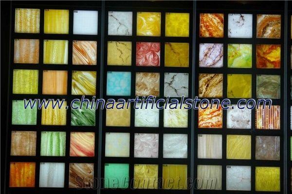 artificial translucent faux alabaster