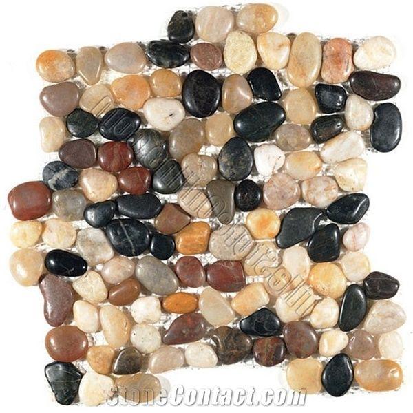river rock stone tile polished amber