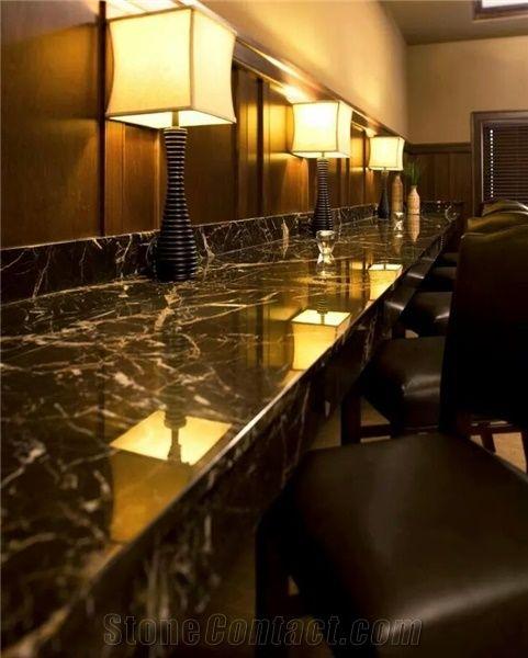 black royal marble commercial bathroom