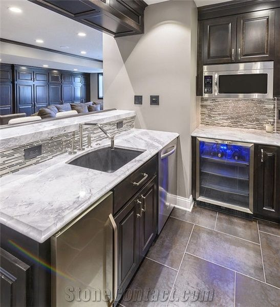 Arabesque White Marble Kitchen Bar Top From United States