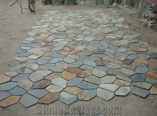 irregular slate paving stone irregular