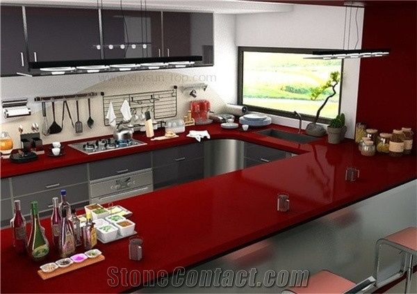 Red Solid Surface Countertops Bstcountertops