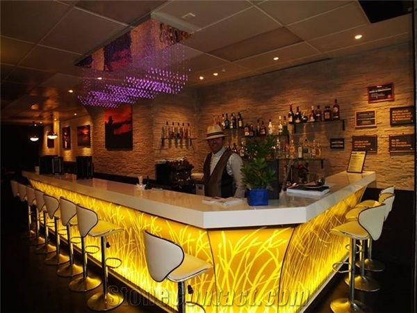 Restaurant Commercial Cafe Bar Counter Design From China