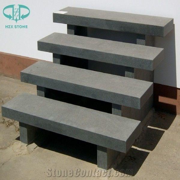 Chinese G654 Pandang Dark Grey Granite Steps Exterior Outdoor | Stone Treads For Outdoor Steps | Marble | Granite | Non Slip | Flagstone | Bluestone Treads