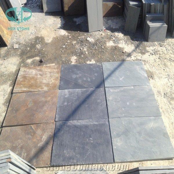 rust slate tile copper slate floor