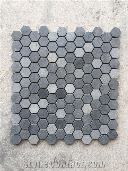 polished granite mosaic tiles with