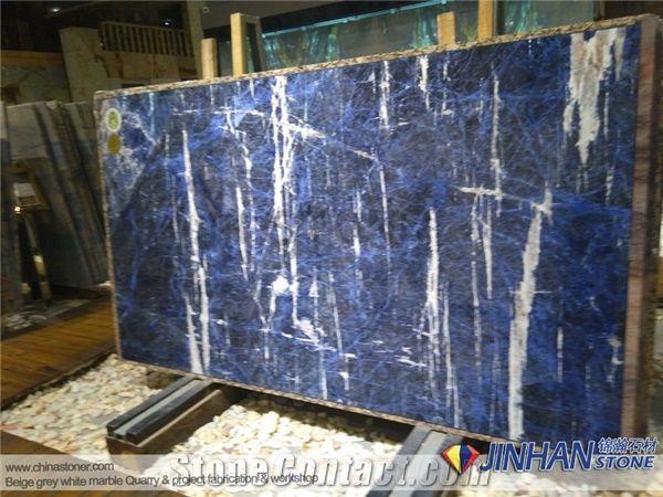 sodalite blue granite slabs dark blue