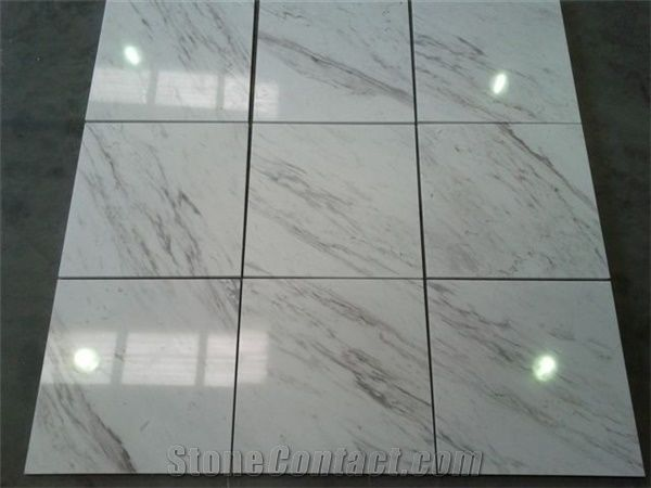 volakas marble tiles slabs white