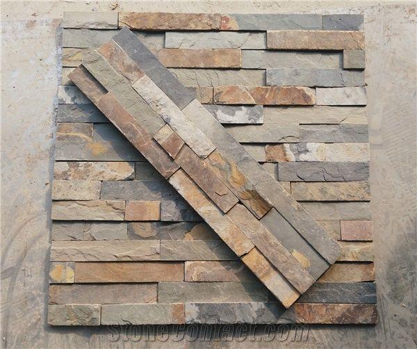 cheap rusty slate wall stone cladding