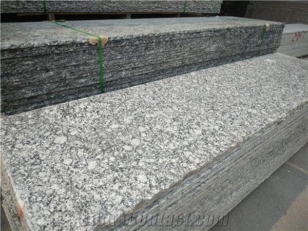 china spray white granite tile slab