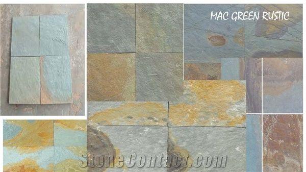 m green rustic slate tiles m green