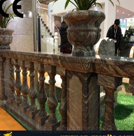 China Juparana Granite Stair Handrail Balustrade Handrail Walkway | Lowes Exterior Stair Railing | Railing Systems | Stair Parts | Stair Treads | Lowes Com | Wrought Iron