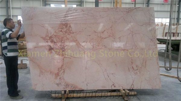 polished marble desert pink marble tile