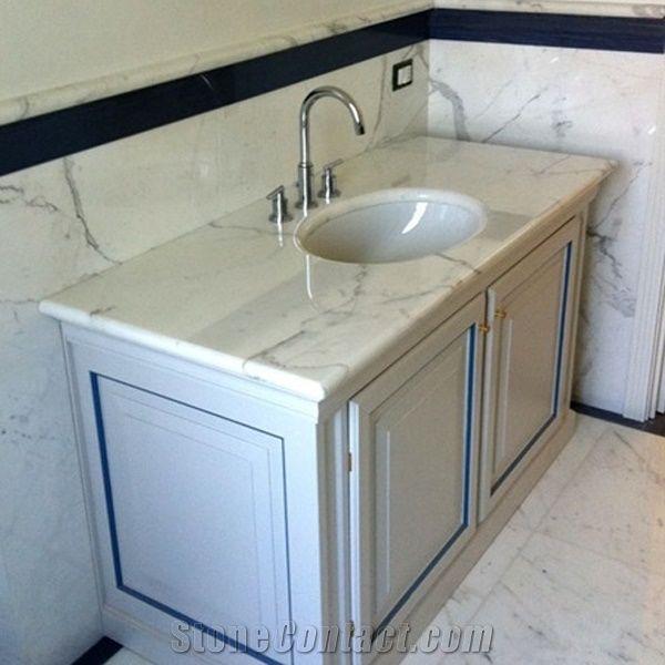 white marble bath countertop vanity top