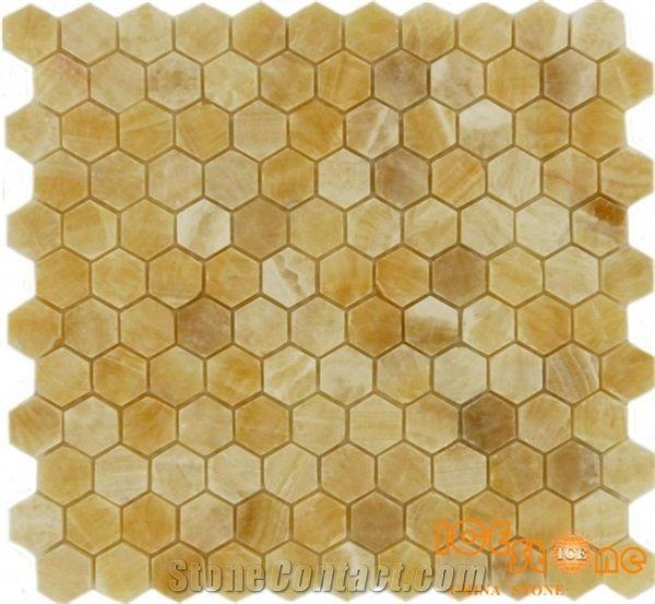 honey onyx chinese yellow onyx hexagon
