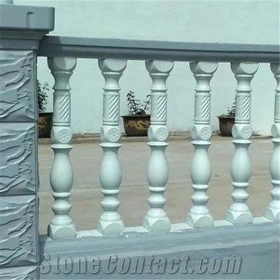 Hot Sale Villa Marble Landscaping Stone Granite Stair Handrail | Stair Rails For Sale | Metal | Cheap | Stainless | Minimalist | Hand