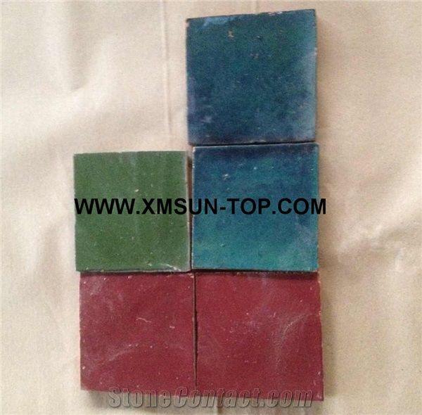 handmade terracotta multicolor tiles