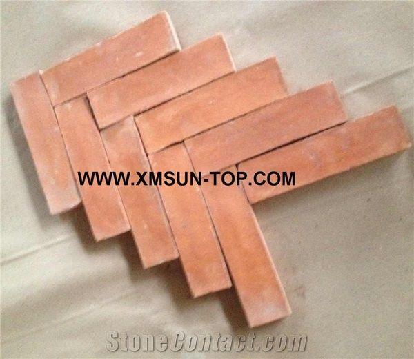 handmade terracotta orange tiles