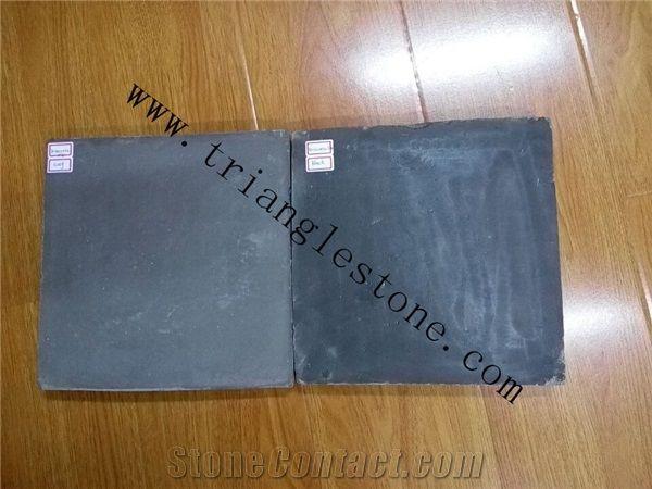 handmade black terracotta tiles from