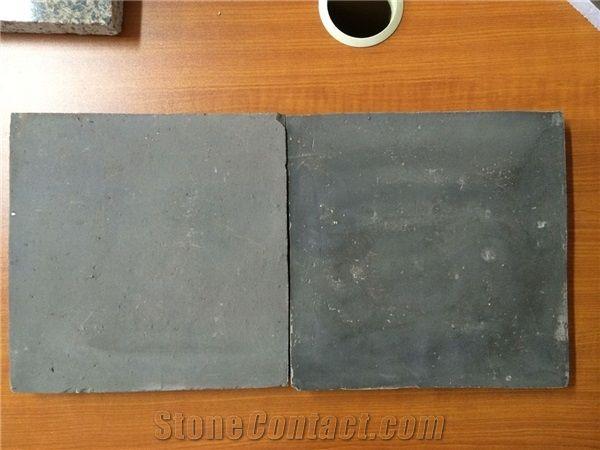 black antique handmade terracotta tile