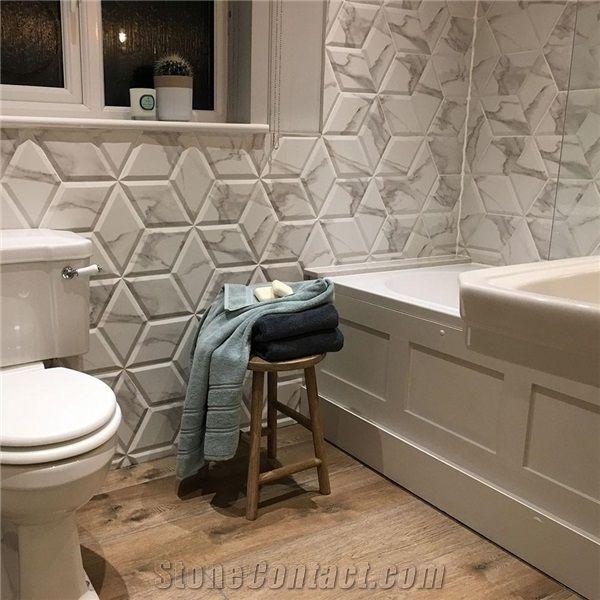 porcelain decorative marble hexagon