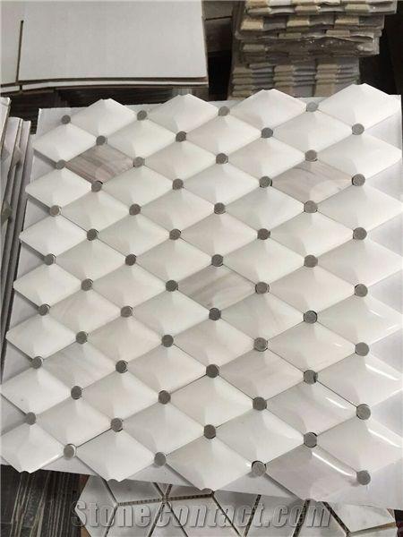 stella long octagon marble mosaic tile