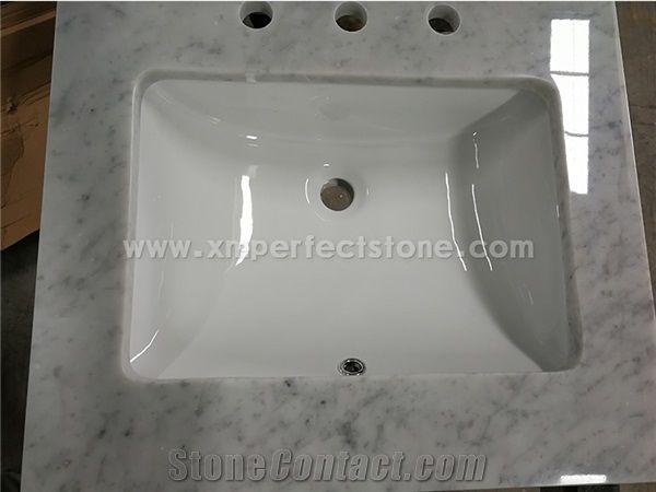 24 x22 60 x22 one sink carrara white