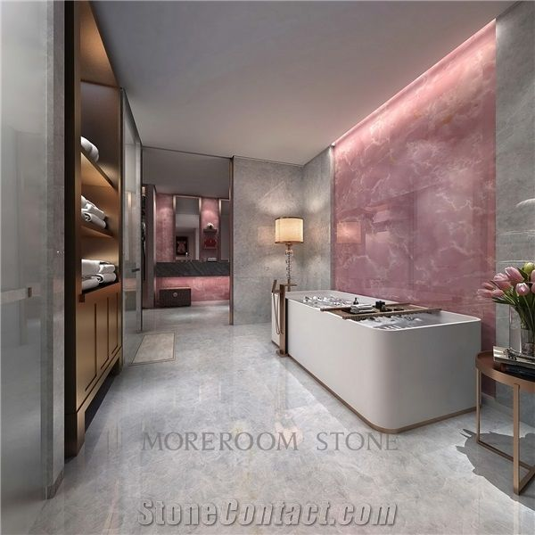 vitrified pink onyx porcelain tile for