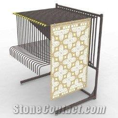 retail free standing strong metal rug