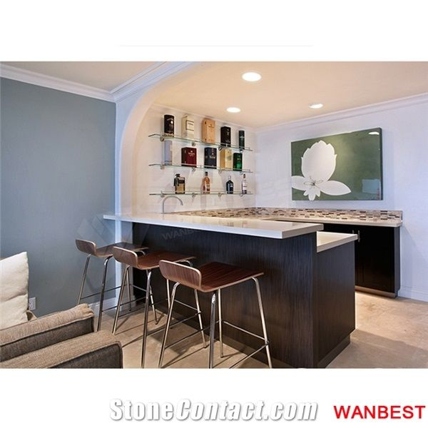 modern wine bar counter front table