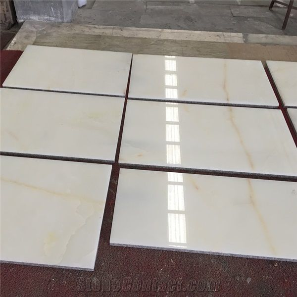 translucent iran goldedn white onyx