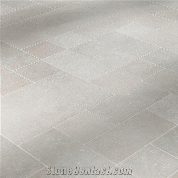 white limestone honed tile machine
