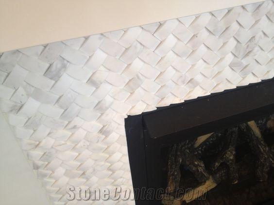 carrara white marble subway tiles