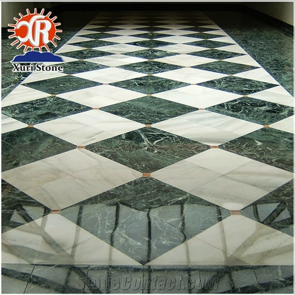india green 36x36 polished marble tiles