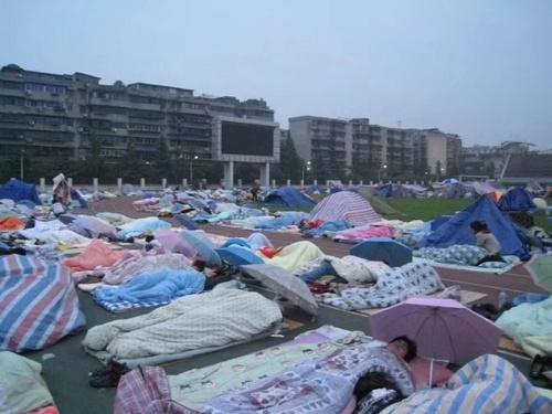 地震后的四川大学