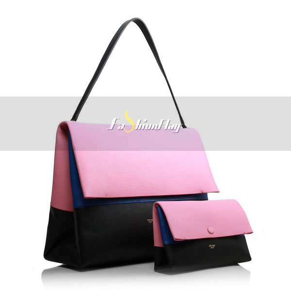 Celine-2013-All-Soft-in-Calfskin-Shoulder-Bag-3409-in-Pink-and-Black-02