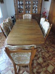 esszimmer eiche rustikal tisch ausziehbar