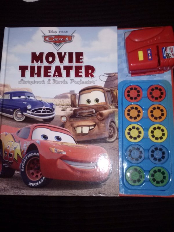 NEW Disney Pixar Cars Movie Theater Storybook & Movie ...