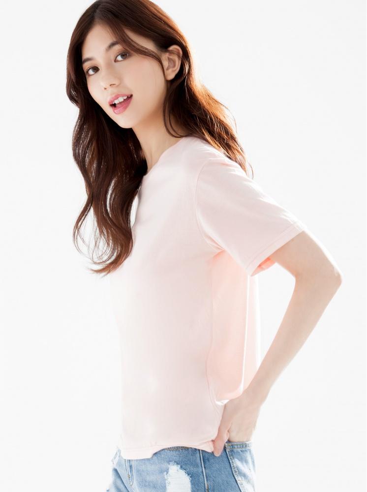 涼感色T-粉橘 - 上衣 - AVILAS/4REASON 提領時尚