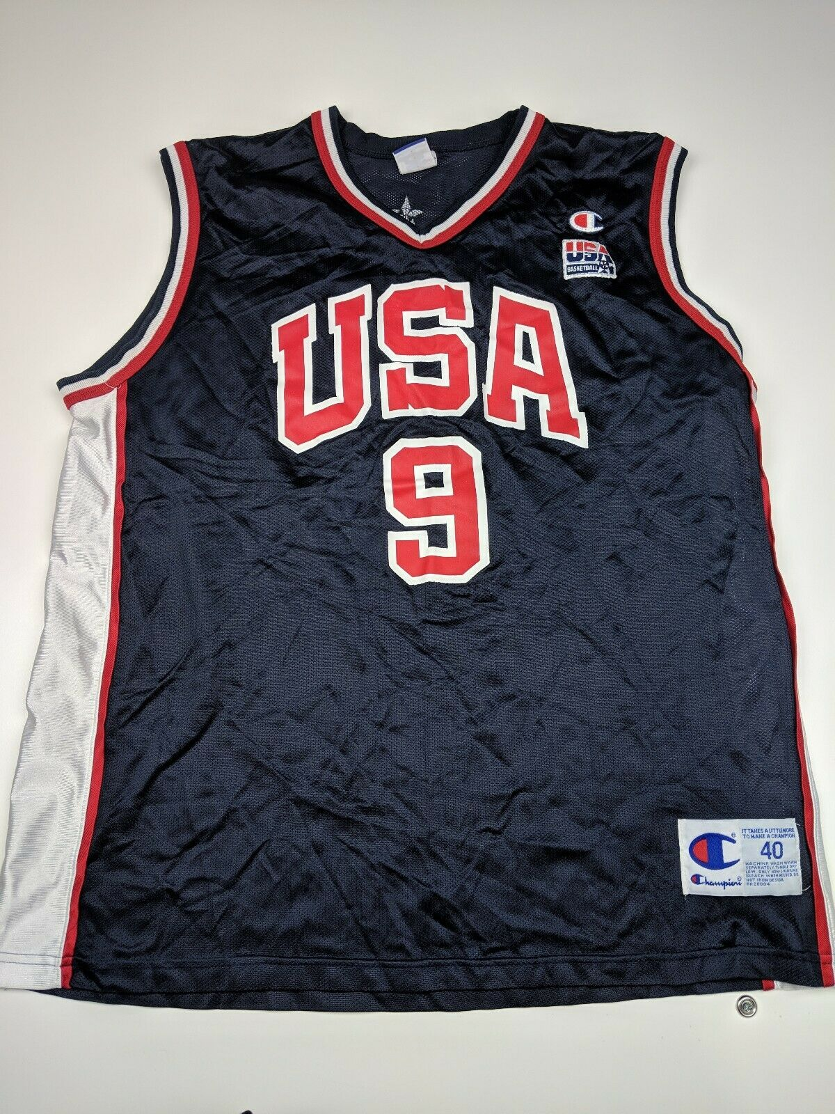 Vintage Champion Vince Carter Usa Dream Team Olympics