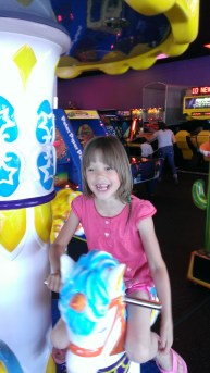 Rylee on her horse.