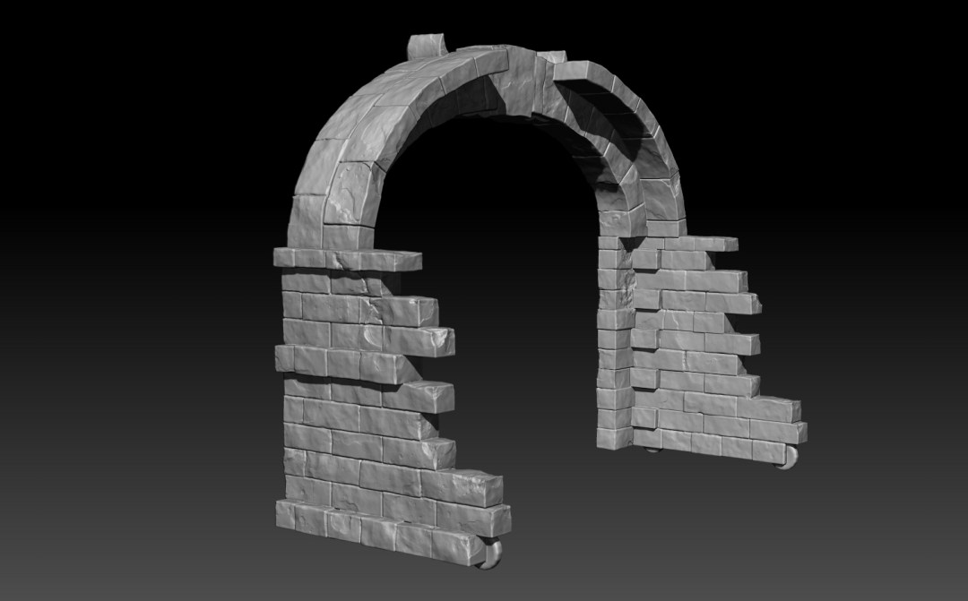 3-D Model Rendering - Baltimore Ravens Arch